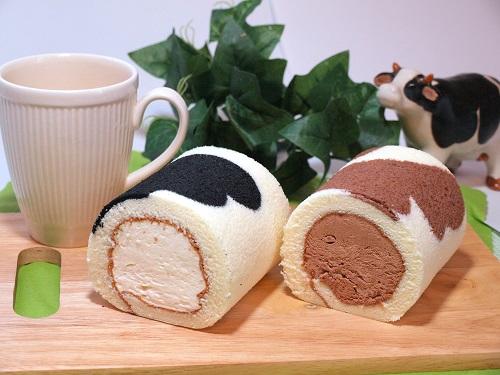 牛柄のロールケーキ